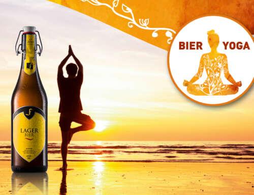 Bier Yoga im FREIHOF