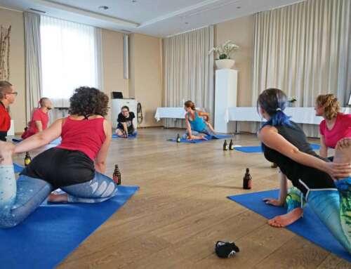 Yoga und Bier bei uns können Sie es kombinieren